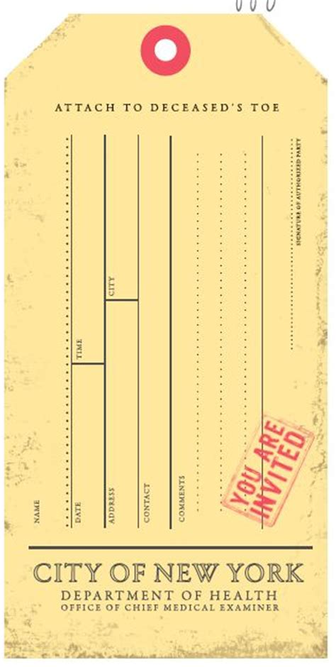 printable toe tags 276 best halloween invitations and printables images on