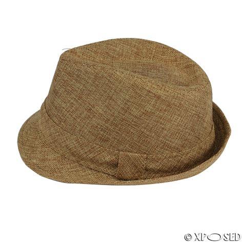 Summer Hat unisex mens womens vintage trilby fedora straw sun hat