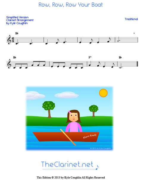 row your boat pdf row row row your boat for clarinet free sheet music