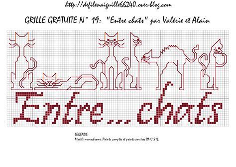 Broderie Grilles Gratuites by Broderie Grilles Gratuites Chats 1 2 3 Flo Bricole
