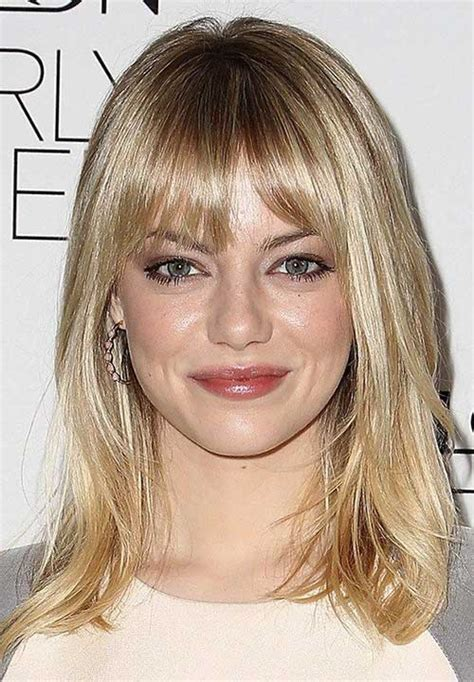 bob hairstyles with long bangs 25 long bob with bangs bob hairstyles 2017 short