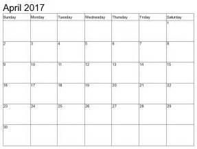 april 2017 calendar weekly calendar template
