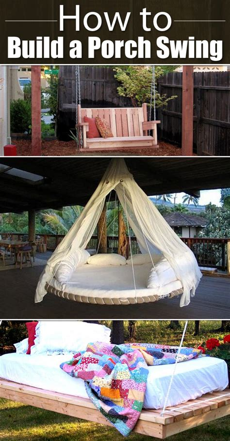 how to make swings 10 free plans on how to build a porch swing
