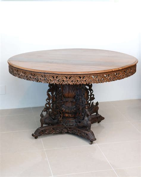 dining table center anglo indian teak and padouk center dining table for sale at 1stdibs