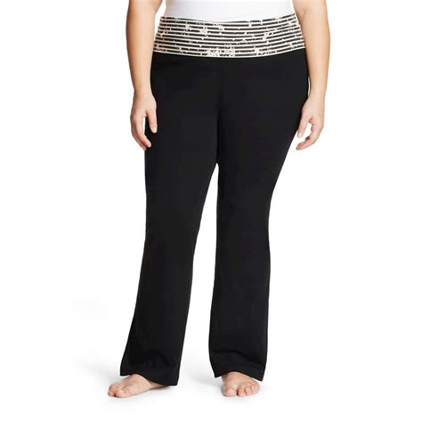 patterned yoga pants plus size mossimo supply co women s plus size bootcut yoga pant