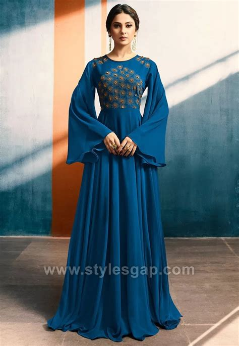 latest umbrella cut dresses frocks designs   collection