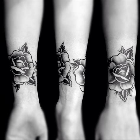 black rose wrist tattoo 60 flowers wrist tattoos ideas