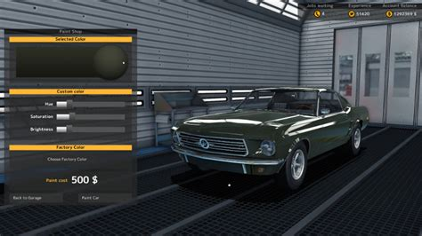 repairing the repainting cars car mechanic simulator 2015