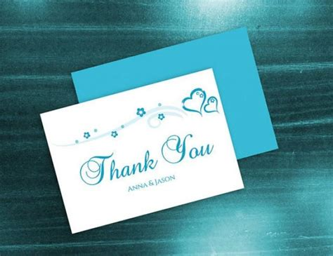 Diy Thank You Cards Template by Diy Printable Wedding Thank You Card Template 2410844
