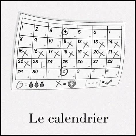 Contraception Calendrier Calendrier F 233 D 233 Ration Du Qu 233 Bec Pour Le Planning Des