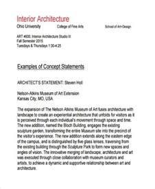 8 concept statement exles sles