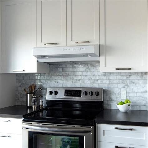 kitchen backsplash peel and stick tiles backsplashes countertops backsplashes kitchen the home depot white peel and stick backsplash