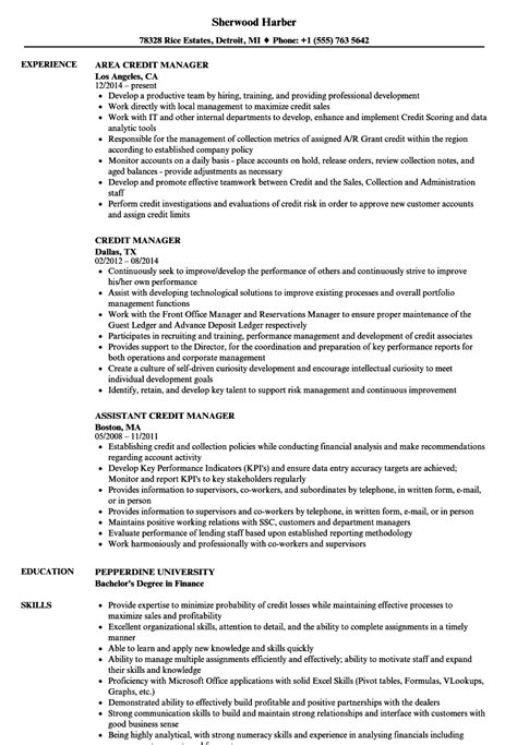 Credit Manager Resume Templates by Resume Template Credit Manager Images Certificate Design