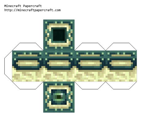 Minecraft Papercraft Ender - papercraft end portel frame with eye of ender no eye of ender