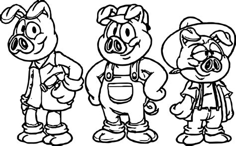 printable coloring pages three little pigs best cartoon 3 little pigs coloring page wecoloringpage