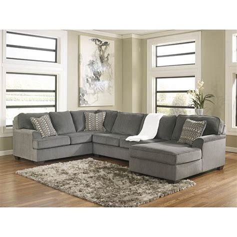 ashley 3 piece sectional rent ashley loric smoke 3 piece sectional