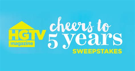 Contest Win A 1 000 Hsn Gift Card - hgtv comfiveyears hgtv cheers to 5 years sweepstakes