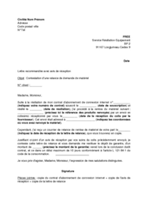 Lettre De Reclamation Free Gratuite Exemple Gratuit De Lettre Contestation Une Relance Free Demandant Restitution Mat 233 Riel Modem Box