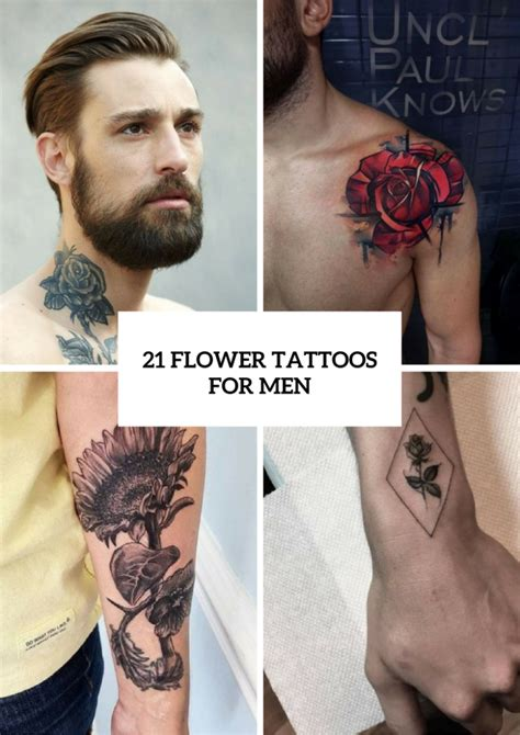 tattoos for men flowers 21 excellent flower ideas for styleoholic