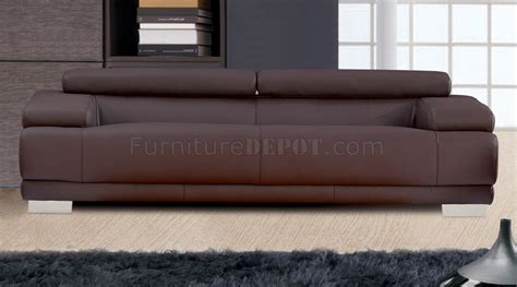 Sofa Melody melody sofa loveseat in chocolate leather by whiteline