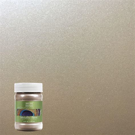 modern masters 6 oz warm silver metallic interior exterior paint me22106 the home depot