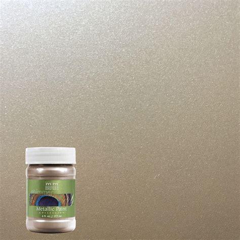 Metallic House Paint Interior by Modern Masters 6 Oz Warm Silver Metallic Interior