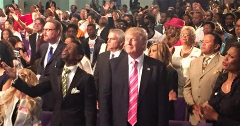 donald trump church angry protesters rally around church during trump s