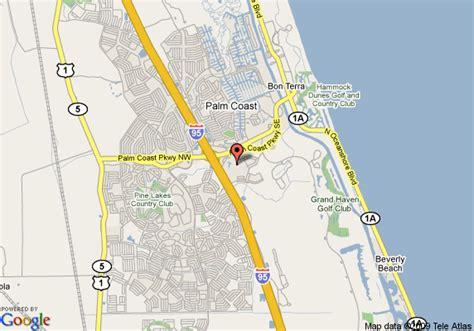 map of palm coast florida map of sleep inn palm coast palm coast