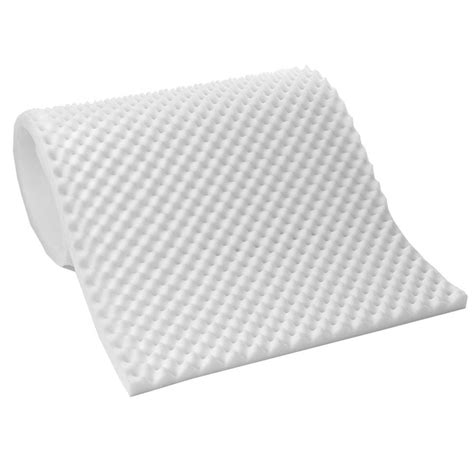 Convoluted Foam Mattress Pad by Lightweight 1 Inch Convoluted Foam Mattress Topper Ebay