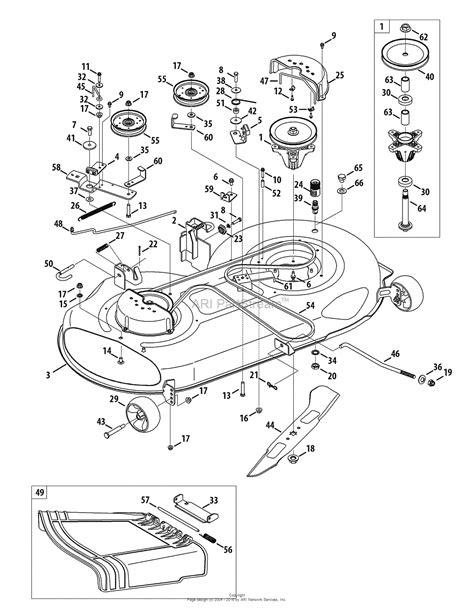 troy bilt 13wx79kt066 horse 2010 parts diagram for mower