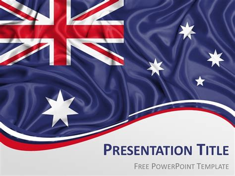 Australia Flag Powerpoint Template Presentationgo Com Patriotic Powerpoint Template