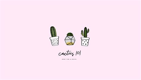 desk cactus cactus desktop wallpaper craftbnb