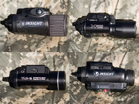 best surefire weapon light pistol weapon light comparo streamlight tlr 1s insight