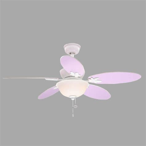pink and white ceiling fan hton bay harper iii 44 in white ceiling fan am214 wh