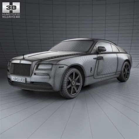 rolls royce wraith 2014 3d model max obj 3ds fbx c4d lwo