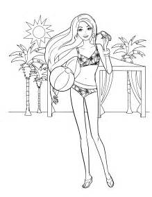 coloriage barbie a la plage ancenscp