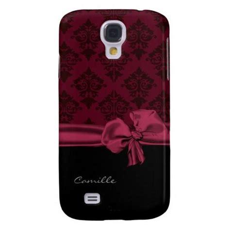 Samsung Galaxy S4 Custom maroon damask custom samsung galaxy s4