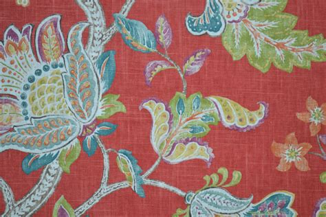 Jacobean Upholstery Fabric by Floral Fabric By The Yard Jacobean Print P By Fabricologyshop