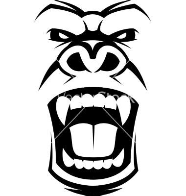 gorilla tribal tattoo angry gorilla vector ink