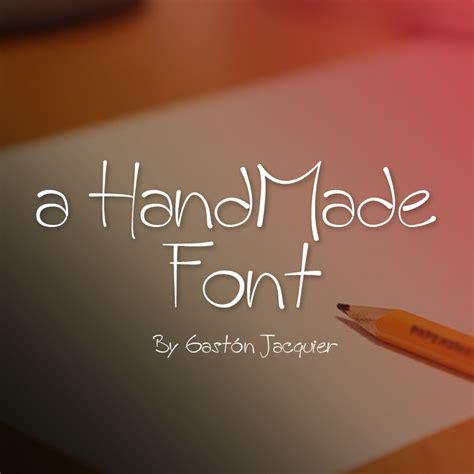 Handcrafted Font - a handmade font detalles de fuente 1001 free fonts