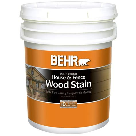 behr 5 gal white solid color house and fence wood stain