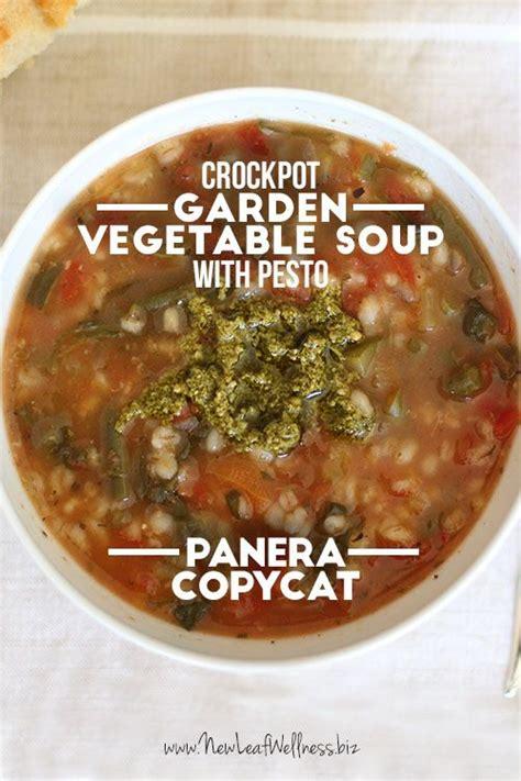 Panera Garden Vegetable Soup Recipe by Garden Vegetable Soup Vegetable Soups And Pesto On