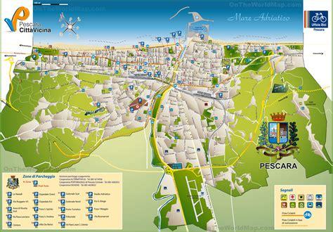 map of pescara italy pescara tourist map