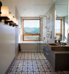 narrow bathroom design framed to perfection 15 bathrooms with majestic mountain