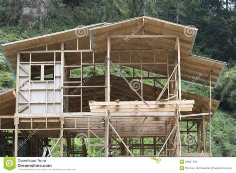 how to go about building a house building a house of wood royalty free stock photos image