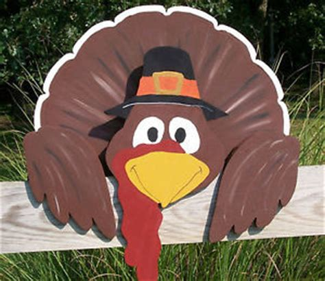 thanksgiving turkey fence greeter 21 quot tall x 22 quot wide yard