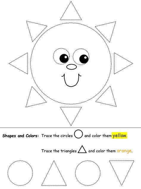 circle coloring pages preschool tracing circles triangles website has lots of tracing