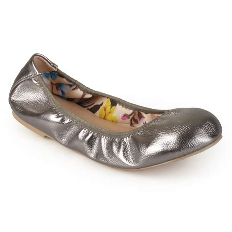 shoe liners for ballet flats brinley co womens scrunch stretchy side ballet