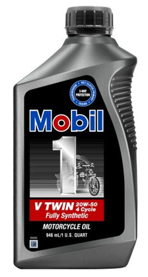Mobil 1 V Twin Motorcycle 20W50 Motor Oil ? 1 Quart, (Pack
