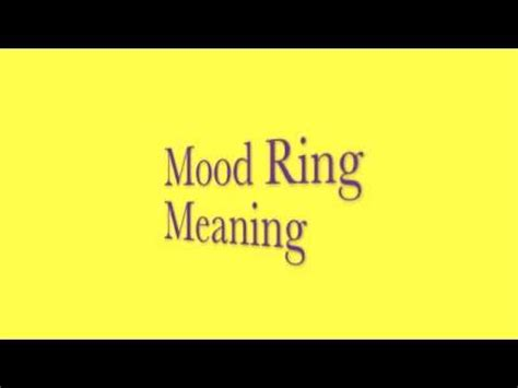 top 20 yellow mood ring color meanings
